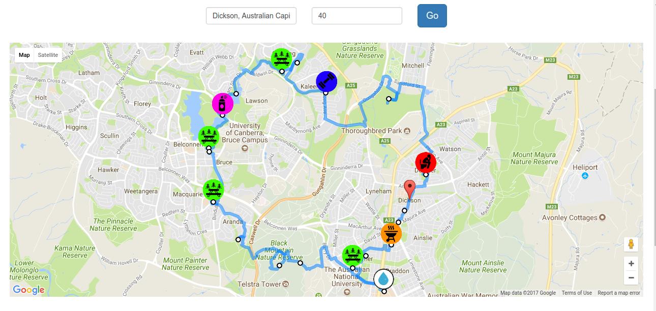 40KM route